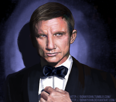 James Bond 007 w/ Speed Painting! by BonnyJohn
