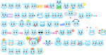55 blue animated emoticons by creativesplash