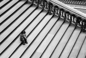 On the Stairs by almumen