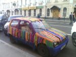 Knitted car in Moscow by BerkanaonDev
