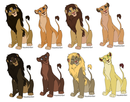 My Lions Free to use in Comics and pics by Nuller4444