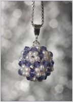 Swarovski Crystal and Pearl Ball Pendant by Sarahorsomeone