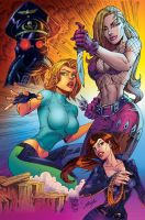 Danger Girls colors by MARCIOABREU7