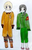 Hetalia: Russia and China by matisse77