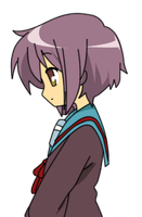 yuki nagato vector by happy-bamboo
