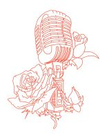 Mic and Roses by JeffEasyStreetInk