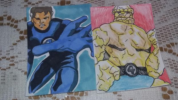 Mr. Fantastic and Thing by MichaelJ83