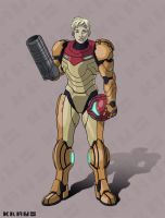 Samus Aran by MARINEMANTIS3YE