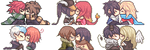 Kissing Icons Commission Batch 1 by Tuliblu