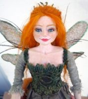 Aednith - the Forest Fairy - OOAK Posable Art Doll by kilpi