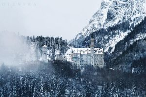 Sad Neuschwanstein by L-Olenska