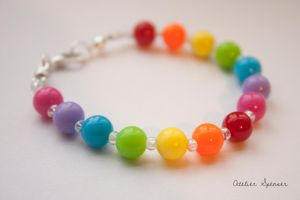 Rainbow Beaded Bracelet by MaverickMae