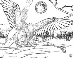 thespooktrail.com 2013 Coloring Book DEMON ATTACK by jackcrowder