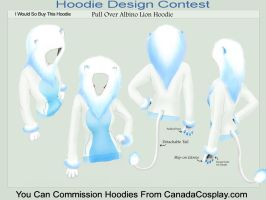 Albino Lion Hoodie X3 by A-R-T-3-M-I-S
