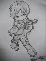 Leon S. Kennedy Chibi by Roadhouse-Hunter