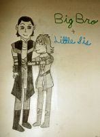 Big Bro and Little Sis by JediSkygirl
