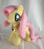 Fluttershy w/ Swarovsky Crystal Element of Harmony by FireflyFarm