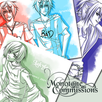 Commissions: Monotone [CLOSED] by tofumi