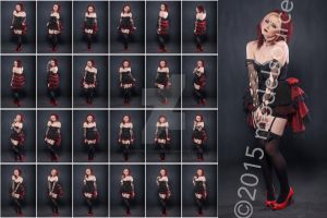 Stock: Holly Hell Kitty Red Black Corset - 24 Img by stockphotosource