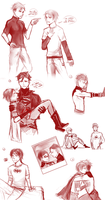 Young Justice Sketches by Mikiku