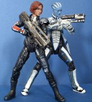 Mass Effect Squad - Liara and Shepard by SomethingGerman