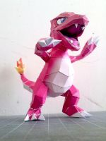 Papercraft - Charmeleon 03 by ckry