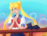 Sailor moon screen cap redraw by slieni