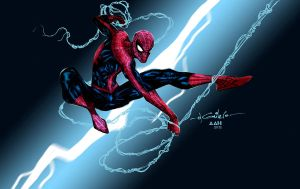 Spidey lightning swing - Alxelder colors by SpiderGuile