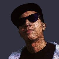 Low Poly Self-portrait by Amine-3D