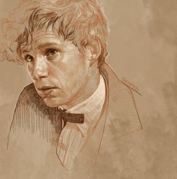 Daily Sketch 32: Eddie Redmayne as Scamander by artandwine365