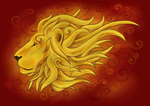 Gold Lion by shadow-over-water