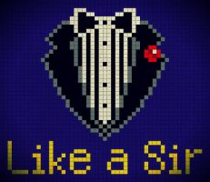 Like A Sir Pixel Art by kyuubi-1993