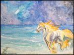Rapidash - Alone on the beach by Embrymandre