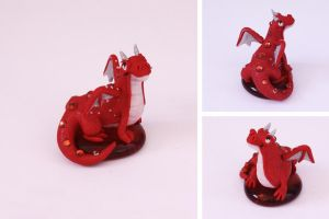 Valentine's Day Dragon - Pearl Red (Male) by LitefootsLilBestiary