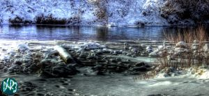 river and snow hdr by DCRIII