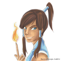 Korra Colored Sketch by KaitouHyuuga