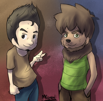 The Weird Guy and the Cool Dude [New ID] by Konamon
