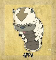 Appa the Flying Bison by rabidcyrus