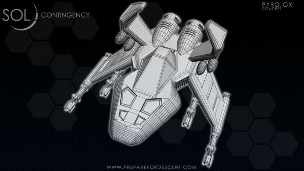 Concept Art Pyro-GX 3D Ship Model by 1DeViLiShDuDe