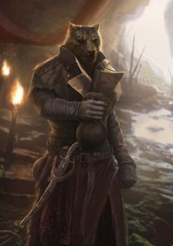 khajiit fan art by Nahelus