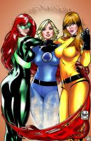 3 Girls from Marvel Colored 2 by eHillustrations