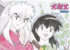 Inuyasha color by kotobayaoi