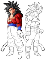goku ssj4 vegeta ssj4 preview 2 by drozdoo