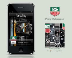 Tag Heuer iPhone Wallpaper Set by Ferchu