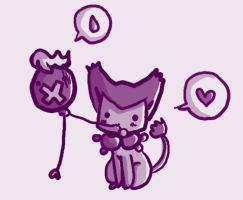 Delcatty and drifloon by schneckomann