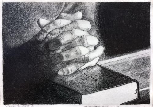 Clasped Hands on the Bible by JamesF63