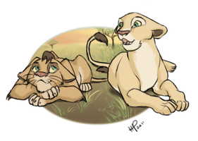 Mheetu and Nala by rikusumi