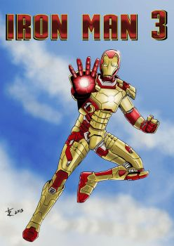 Iron man 3 tribute by rafgraphicart