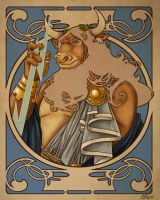 Greek Gods: Zeus Colored by Candy-Janney