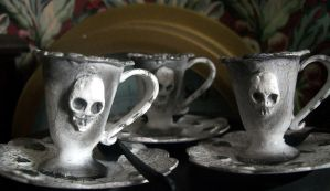Gloomy Goth Dolls' Tea Set by Rhissanna